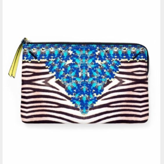 Stella & Dot Zebra jeweled clutch bag Brand new and stylish. Print no longer available Stella & Dot Bags: