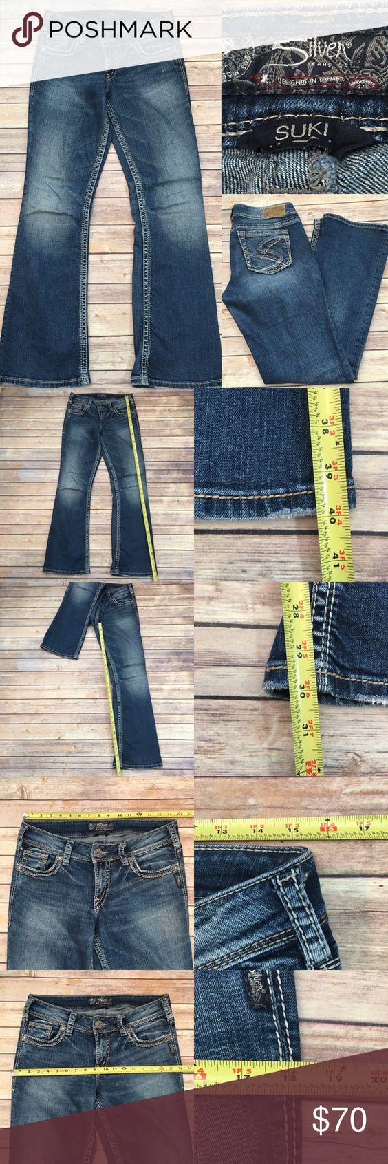 💌Sz 29 Silver Jeans Suki Bootcut Distressed Jeans
