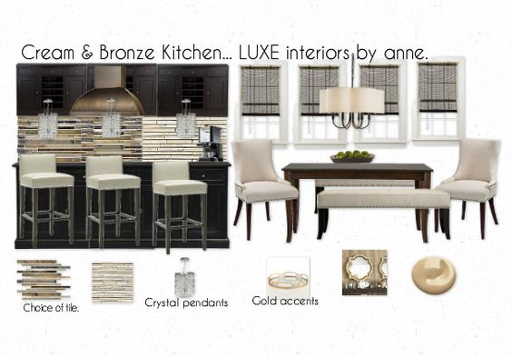 Kitchen and Breakfast Nook... LUXE interiors by anne.