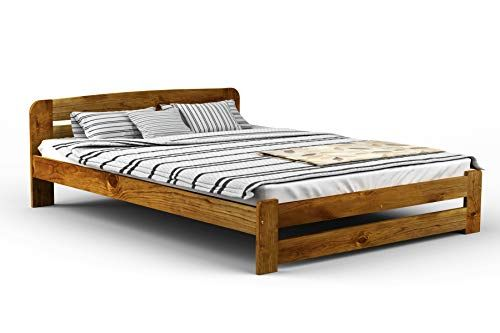 New Solid Wooden Pine Bed Frame One With Plywood Slats Oak King Size