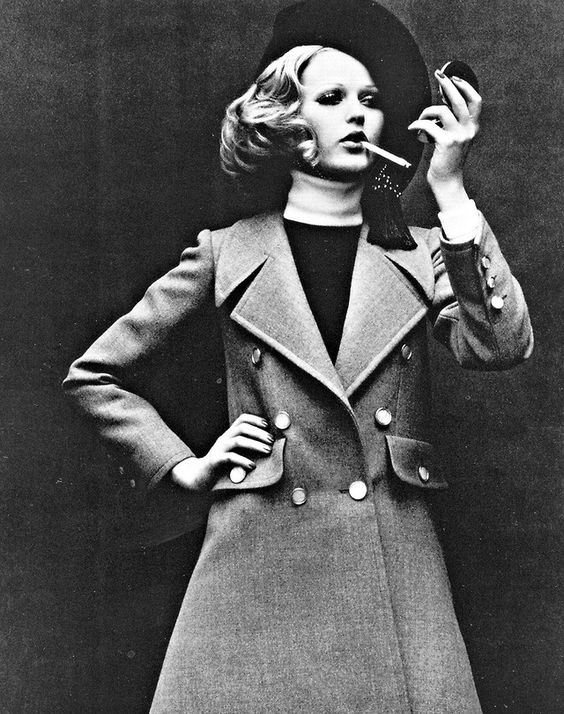1968-69 - Margrit Ramme in Yves Saint Laurent by Helmut Newton, February 1968