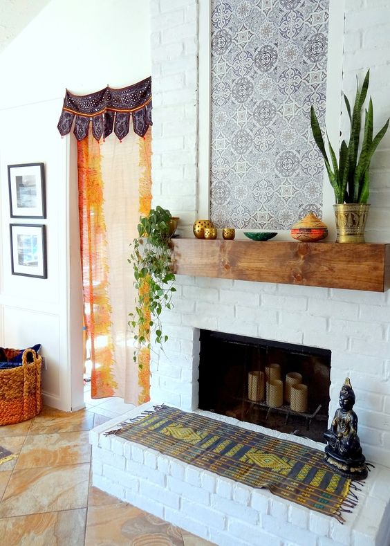 Spanish Boho Mantle Refresh With Bleucoin Tile Decals