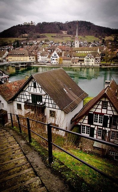 At the Stein am Rhein medieval village in Switzerland.