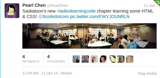 Ladies Learning Code premier workshop in Saskatoon! Fabulous learning opportunity.