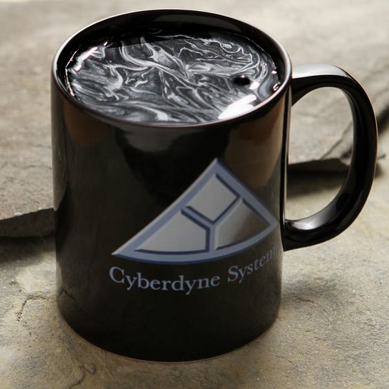 ThinkGeek :: Terminator 2: Cyberdyne Logo Coffee Mug