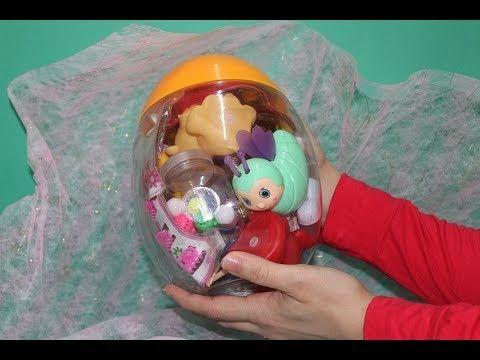 बच च क ख ल न आश चर य بيضة المفاجآت الكبيرة جدا بيضة المفاجآت العملاقة العاب بنات و أولا Baby Minnie Mouse Baby Minnie Healthy Candy