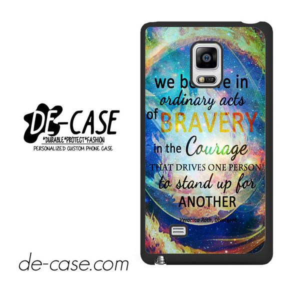 Divergent Dauntless Quote Nebula DEAL-3471 Samsung Phonecase Cover For Samsung Galaxy Note Edge