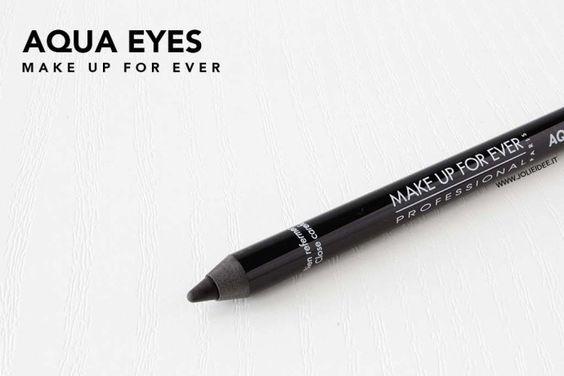 Review Aqua Eyes Make Up For Ever 0L Matte Black - Top Matita nera
