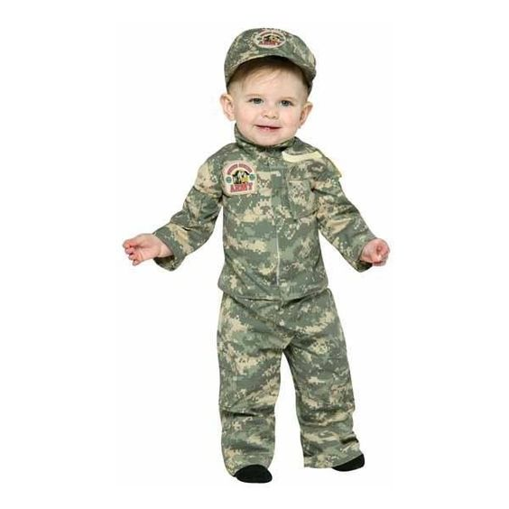 Army infant 6 12 months infant baby halloween costumes for Cute halloween costumes for 12 year olds