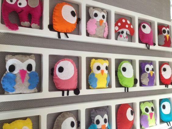 cadre deco chambre enfant et bebe oiseaux hiboux b b bichatandfriends fait maison bebe. Black Bedroom Furniture Sets. Home Design Ideas