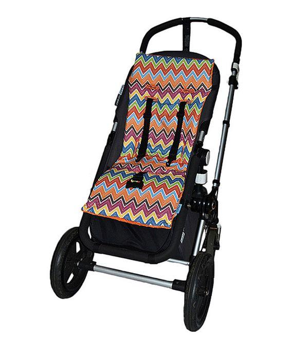 Look at this #zulilyfind! Orange Zigzag Plush Reversible Organic Stroller Liner by Tivoli Couture #zulilyfinds