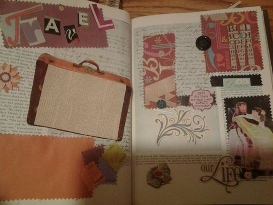 Scrapbook made from old book