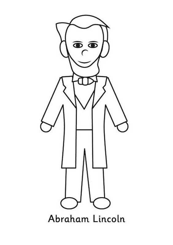 Abraham Lincoln Coloring Pages For Kindergarten : A kids drawing of abraham lincoln coloring page