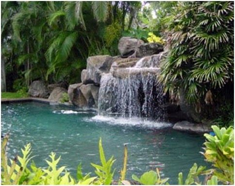 Swimming Pools Design And Decorating Ideas Pictures Of Pools Ponds Waterfalls And Above Ground Pools Know Ma Waterfall Swimming Pools Swimming Pool Designs