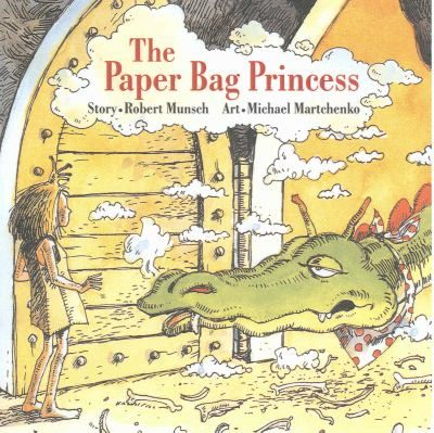 The PAPER BAG PRINCESS by Robert N. Munsch. Princess Elizabeth is set to marry Prince Ronald when a dragon attacks the castle and kidnaps Ronald. In resourceful fashion, Elizabeth finds the dragon, outsmarts him, and rescues Ronald--who is less than pleased by her un-princess-like appearance. (A must for independent self-respecting kids of all ages with a good sense of humor :-)