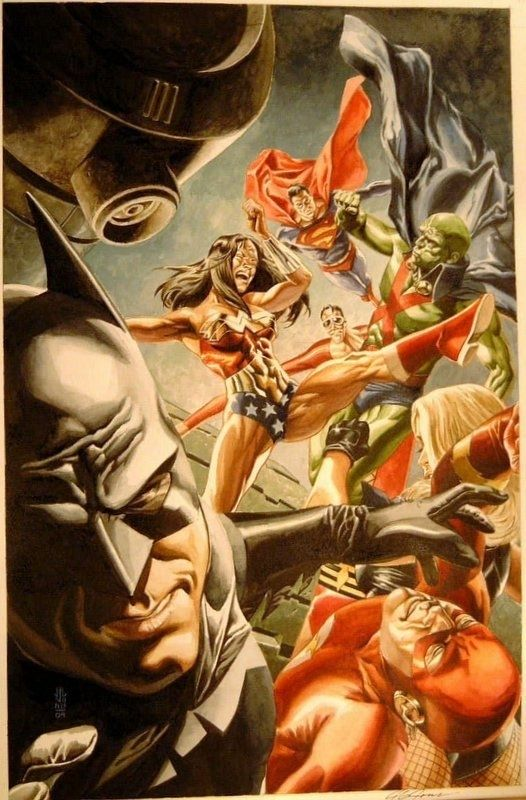 JG Jones - Wonder Woman 212 Cover (Batman, Superman, Flash) Comic Art