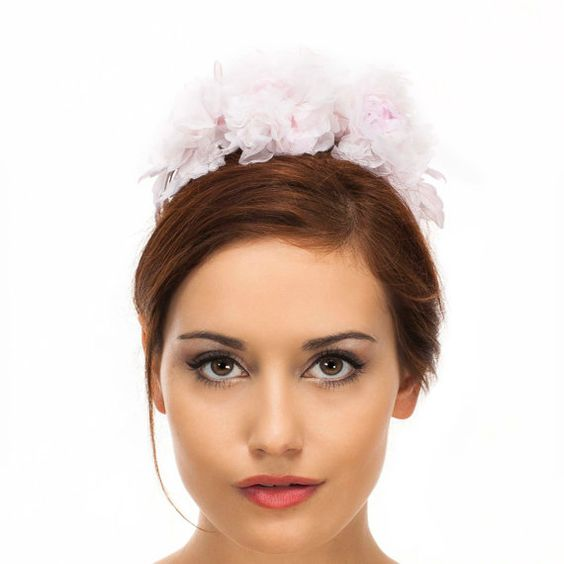 Wedding headband-bridal headband-pink wedding by FlorissimaBella