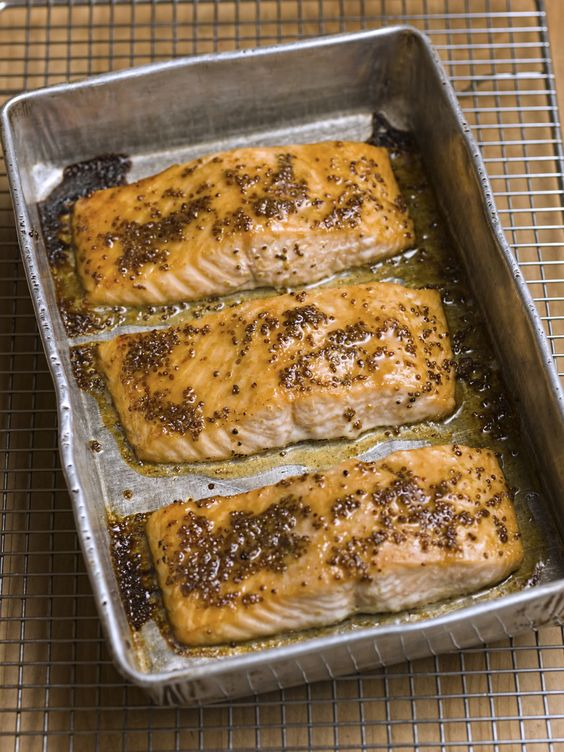 Slow-Baked Salmon with Honey Mustard Glaze - Chef Michael Smith