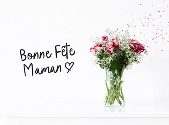 Une Carte Fleurie Pour Votre Maman Carte Bonne Fete Maman Carte
