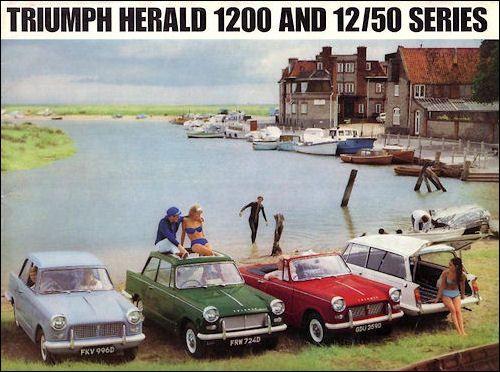 Triumph Vitesse 1963 Sales Brochure From London Auto Show 8 Pages