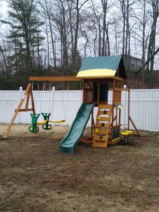 cedar summit brookridge playset from toys r us installed in sewell nj