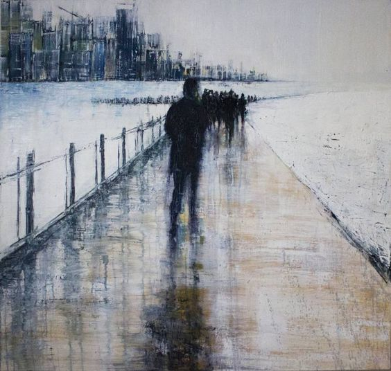 "Saatchi Art Artist Lesley Oldaker; Painting, ""End of the Line (SOLD)"" #art"