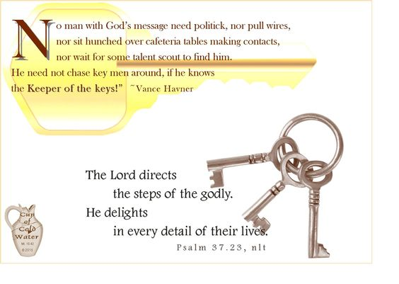 No one says it quite like the old preacher, Vance Havner... 2015-0629
