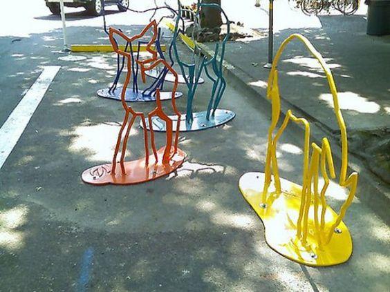 Eugene, Oregon | Urban Wildlife Bicycle Rack