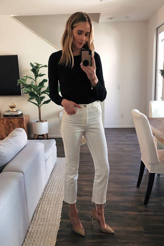Fashion Jackson | 16 Ways to Wear White Cropped Jeans this Spring