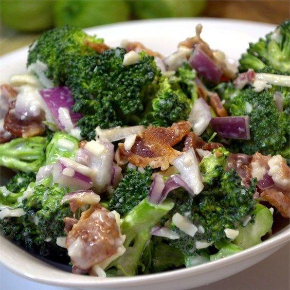 "nice Creamy Broccoli Salad | ""Best broccoli salad EVER!! I like to shred some of the ..."