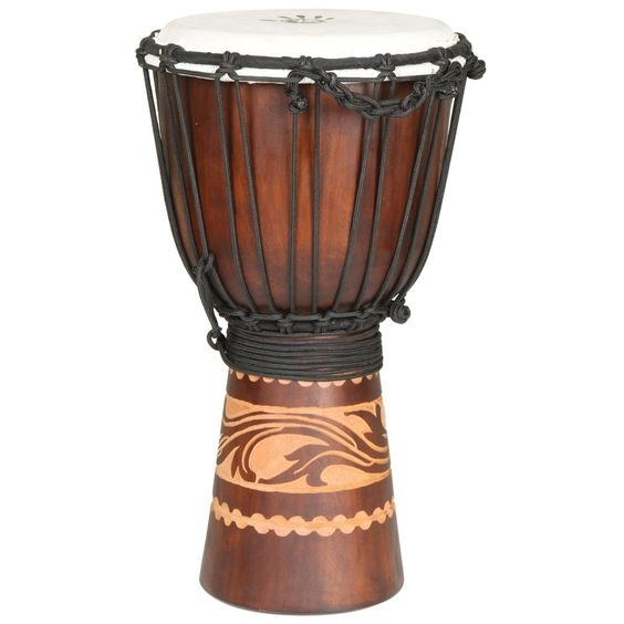 X8 Drums Hand-carved Kalimantan Travel-size Djembe Drum