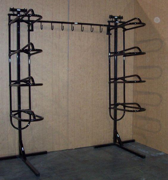 2 Quad Saddle Racks with Stands, 7 Hook Bridle Hooks