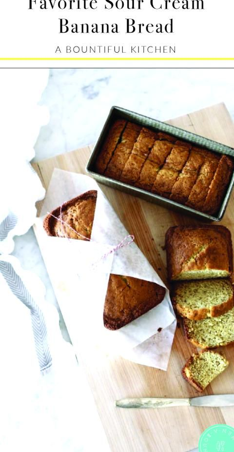 Favorite Sour Cream Banana Bread Is Made With Buttermilk Yogurt Or Sour Cream Making The Most D In 2020 Sour Cream Banana Bread Super Moist Banana Bread Savoury Baking