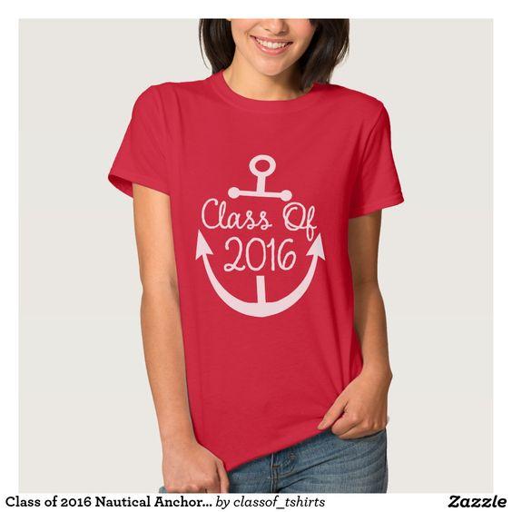 Class of 2016 Nautical Anchor Ladies T-shirt