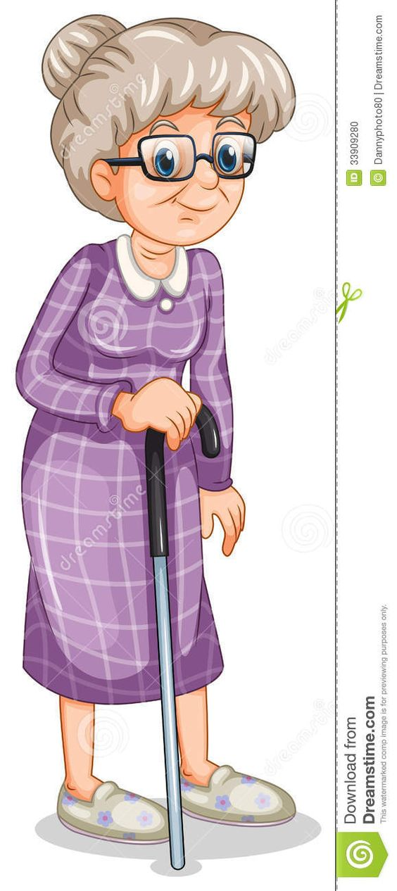 Old ladies, Canes and Cartoon on Pinterest