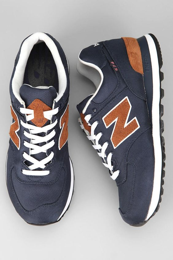 New Balance 574 Backpack Sneaker. Try to learn how to wear sport shoes. :)   i think its really pair with jeans and t shirt.