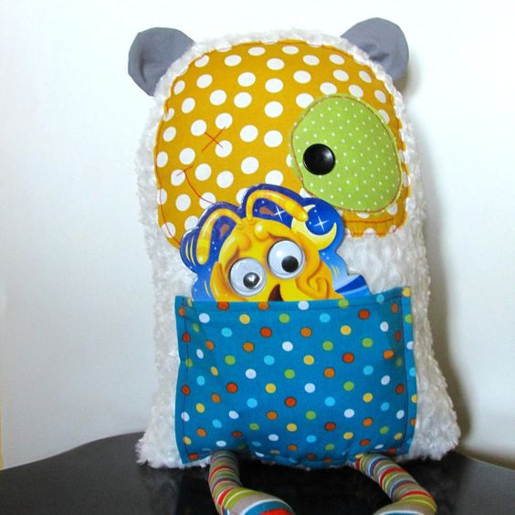 Scrappy Softie Monster - Plush Toy - Extra Large - Polka Dots - Stripes - Rag Doll - Ready To Ship