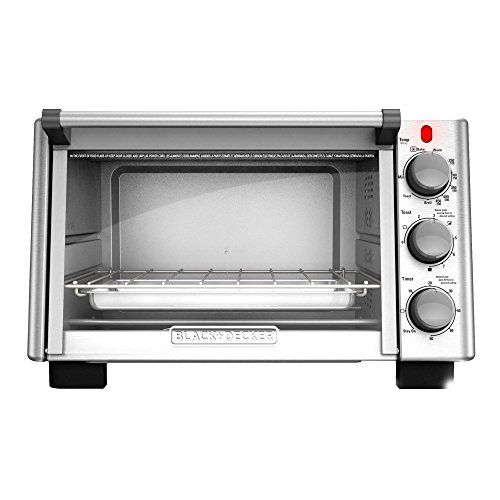 Blackdeckerto2050s 6slice Convection Countertop Toaster Oven Blackstainless Steel Amazon Bes Black And Decker Toaster Toaster Oven Countertop Toaster Oven