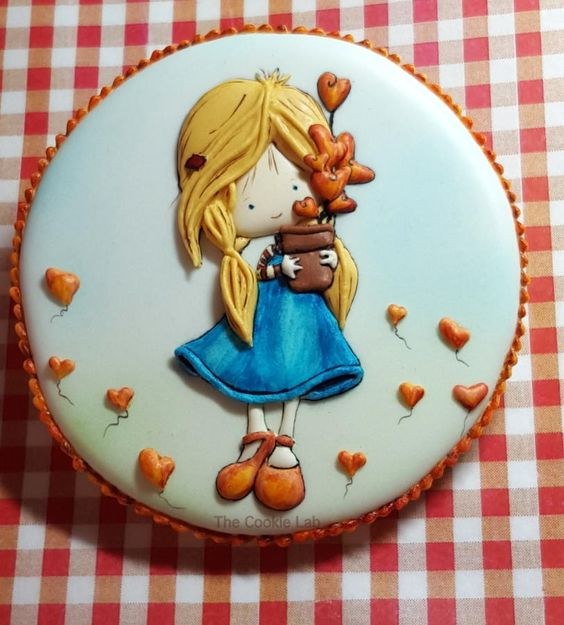 sending love and hugs! by The Cookie Lab - Bolachas Decoradas Artesanais: