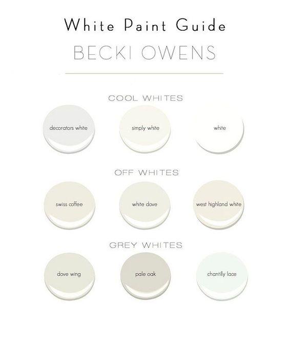 White Paint Colors. Cool white Paint Color. Off Whites Paint Color. Grey Whites.