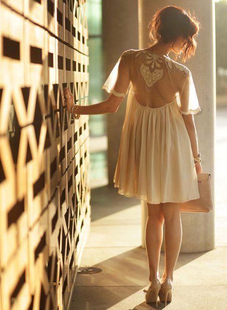 Fancy - Mesh Detail Swing Dress by ASOS