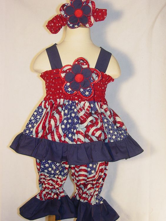 Fourth Of July Outfit Girls Dress Baby Toddler Custom