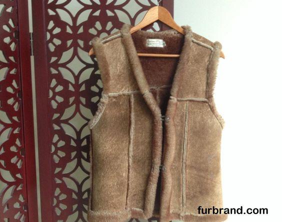 Vintage 1970's Sportsman Brand Sheepskin Vest - http://furbrand.com/vintage-1970s-sportsman-brand-sheepskin-vest