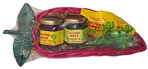 Traditional Cactus Candy and Jelly Chili Pepper Gift Basket, ,