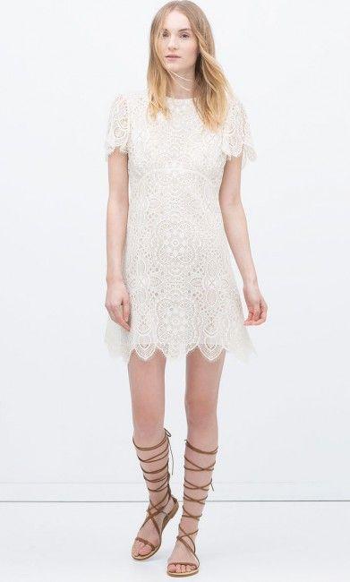 Dantel Islemeli Zara Elbise Modelleri Kadinlive Com Dantel Elbise Moda Stilleri Kadin Olmak