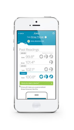 @Kinsa Health creates a personalized illness forecast #thermometer #parenting #health