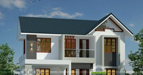 Sloping Roof Modern Home By Dream Form House Front Design Small House Plans House Roof