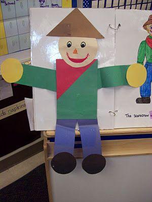 Shape scarecrows: Scarecrow Shape, Math Lesson, Blog Scarecrows, Preschool Scarecrow Math, Fall Crafts For Kindergarten, Scarecrow Craft Preschool, Kindergarten Blog, Shape Scarecrow