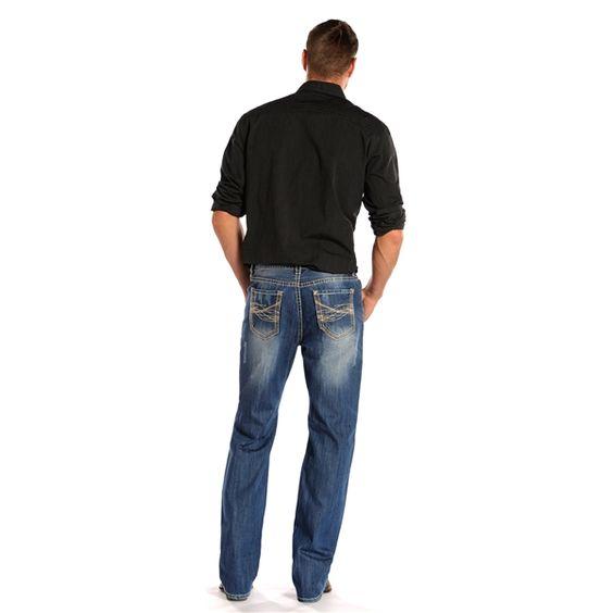 Rock N Roll Cowboy Double Barrel Straight Leg Jean M0S1580