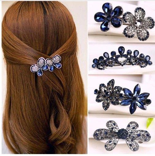 Dame Schmuck Kristall Schmetterling Haarspange Haarschmuck Hair Haarnadeln Clips